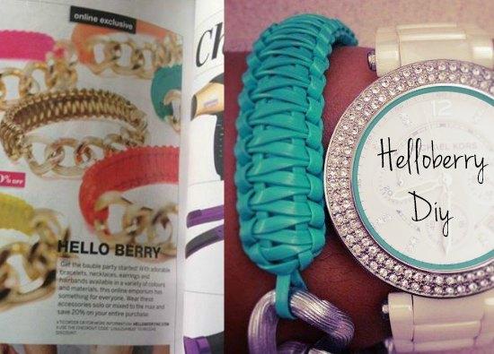 Brazaletes inspirados en los famosos de Helloberry Diy