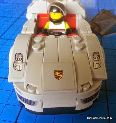 LEGO Porsche 918 Spyder 75910 Hybrid Supercar Speed Champions bonnet and badge