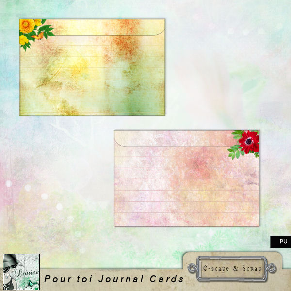 FREEbie #4 - Pour Toi (For You) Journal Cards from Louise L