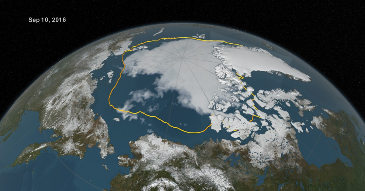 2° record in negativo per il manto ghiacciato del mare Artico, by NASA!