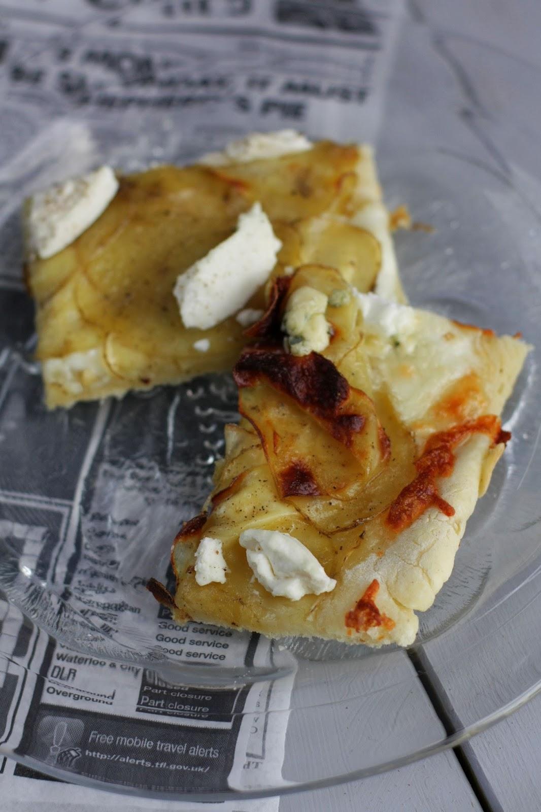 valkoinen pizza peruna-ricottapizza pizzekirja