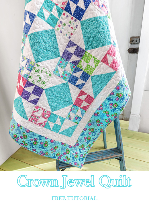 Crown Jewel Quilt Free Tutorial designed by Jenny of Missouri Quilt Co