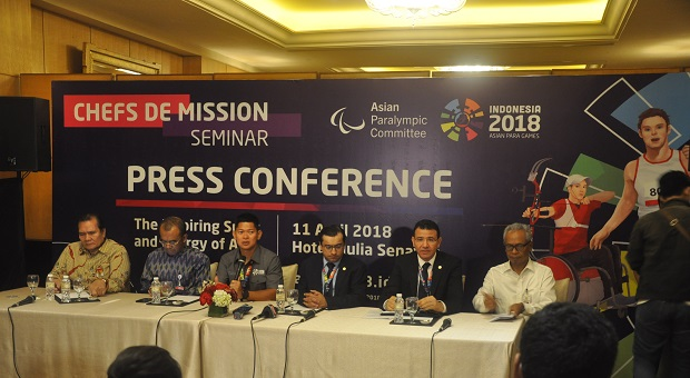 INAPGOC Gelar Chefs de Mission Seminar Asian Para Games 2018