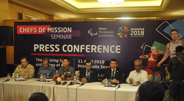 INAPGOC Gelar Chefs de Mission Seminar Asian Para Games 2018