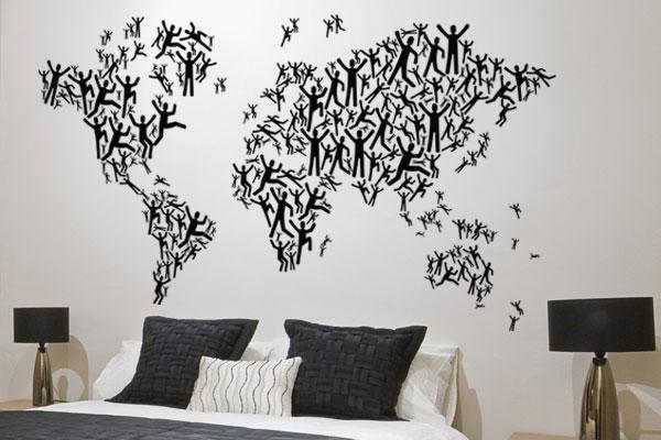 ambientes decorados com mapas 4 - A elegância dos Mapas na decoração de Ambientes