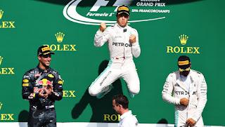 FÓRMULA 1 - Rosberg suma su 6ª victoria en Bélgica y se acerca a Hamilton