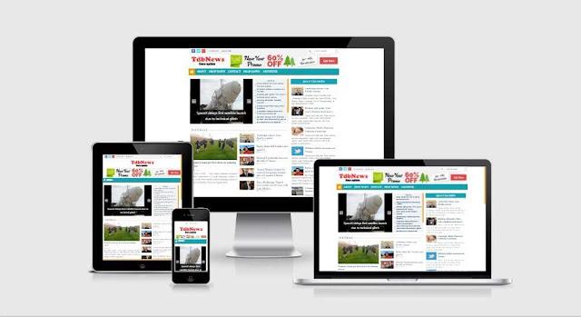 TdbNews responsive blogspot template