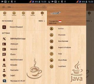 BBM Mod Java Wood Update Terbaru APK
