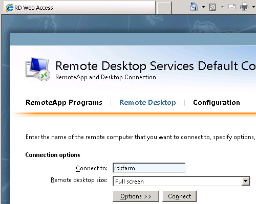 The Microsoft Platform: RD WebAccess and the