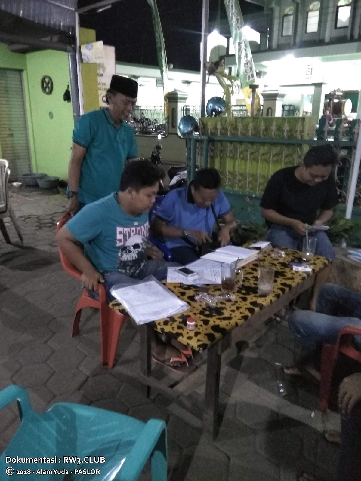 Nor Badri, Raditya Nugroho, Imam Sofyan, Andi Mulyadi - Pengurus Komunitas Pemuda-Pemudi RW-3 NgoPi di Angkringan