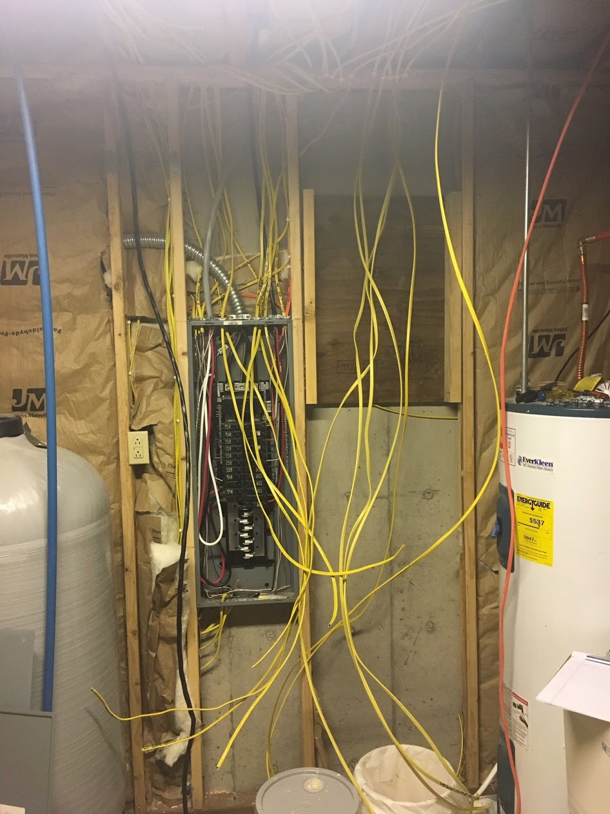 Anderson Log Cabin Fever Home Building 2017 Wiring Main Panel Pre Basement I Ran The Majority Of Electrical To Connected Three Floor Circuits Loft Sub