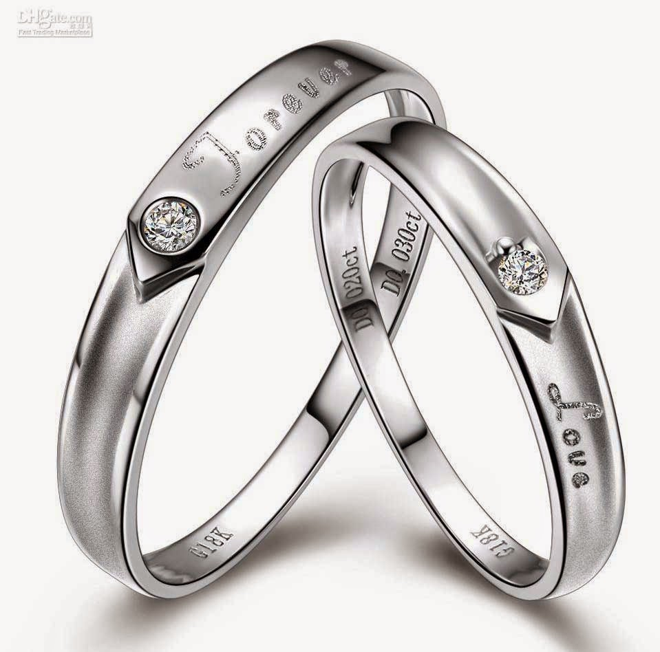 Affordable Matching Wedding Bands Sets White Design