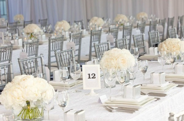 White And Silver Wedding Theme