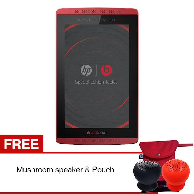 """HP Slate 7 Beats Special Edition - 7.0"""" - 16 GB - Merah + Hadiah Gratis"""