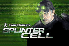Splinter Cell title screen game boy advance