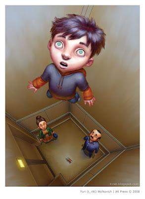 Привидение в лифте - Иллюстрация - Юрий (t_rAt) Волкович