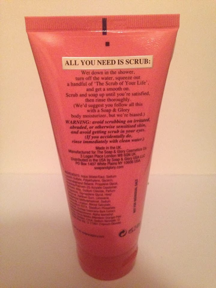 back of the soap and glory scrub of your life