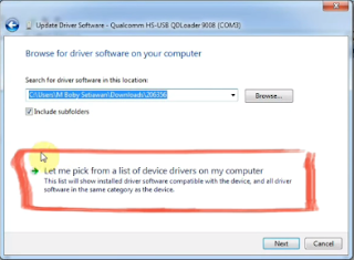 Let Me pick from a list of device on my computer this lis wili installed driver software compatible with the and all driver software in the same category as the dvice