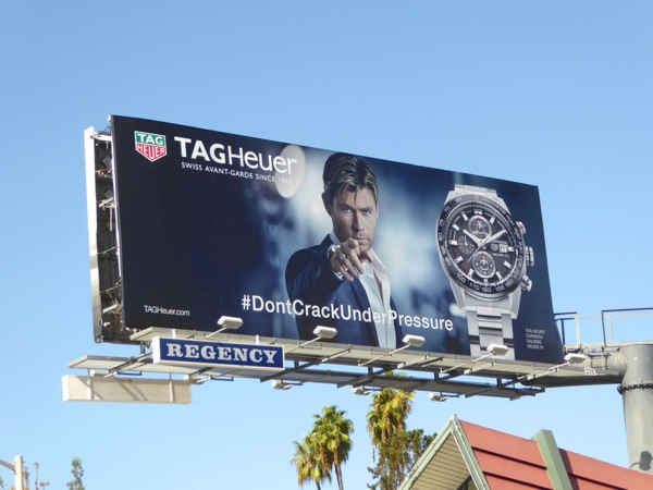 Chris Hemsworth Tag Heuer watch billboard