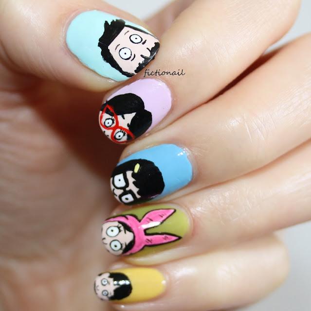 Bob's Burgers Nail Art