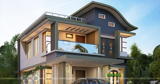 ₹40 lakhs cost estimated contemporary modern house ...