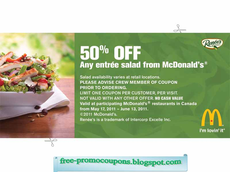 Mcdonalds printable coupons canada