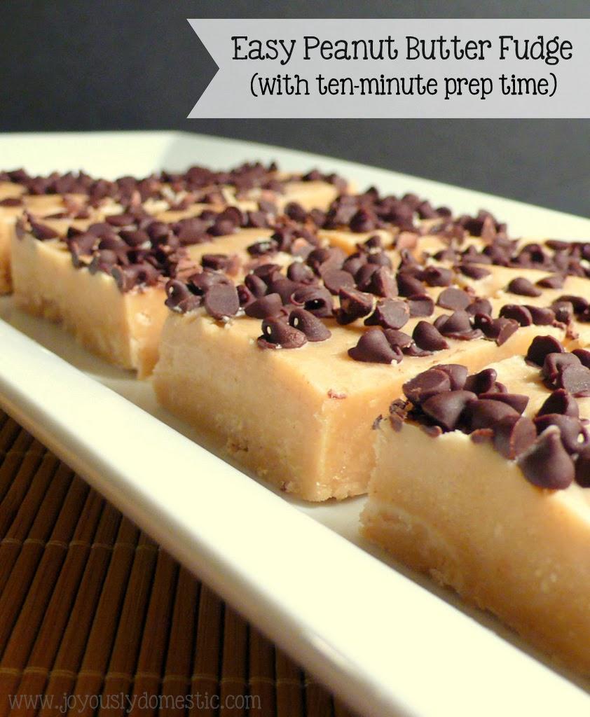 Joyously Domestic: Easy Peanut Butter Fudge