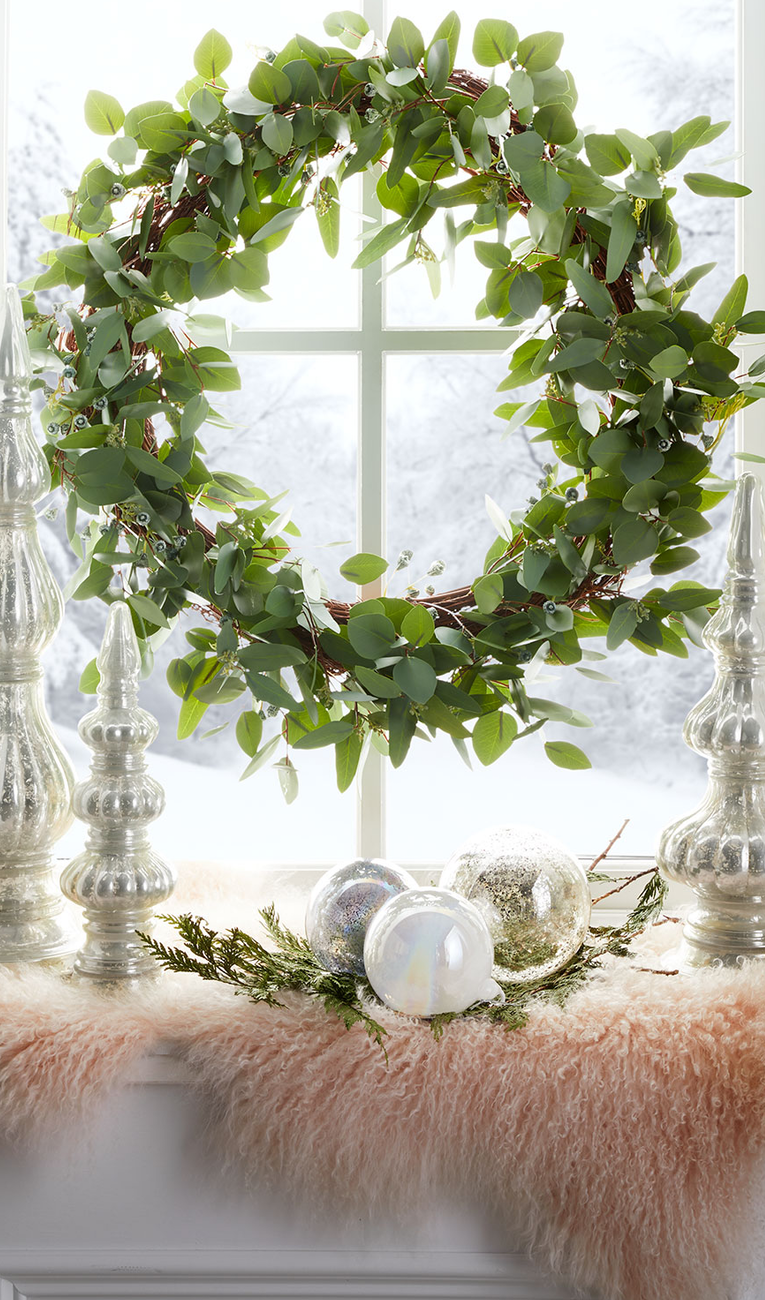 "Jim Marvin 30"" Seeded Eucalyptus Wreath"