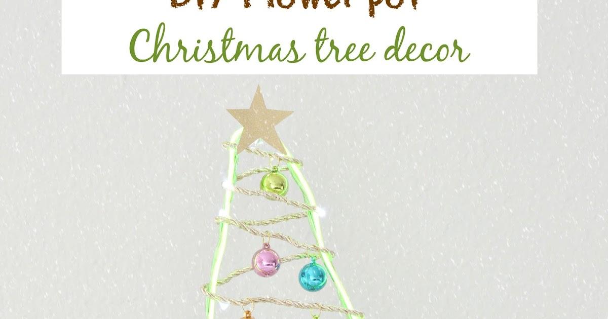 Vikalpah diy flower pot christmas tree decor for Christmas trees at michaels craft store