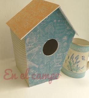 Tutorial casita de p�jaros de cartonaje, segunda parte.