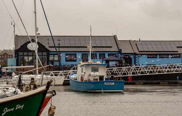 Photo of boat trips in the rain at Maryport Marina Open Day