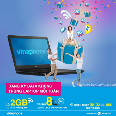 Vinaphone khuyến mãi: Mỗi tuần một Laptop khi đăng ký gói cước 3G