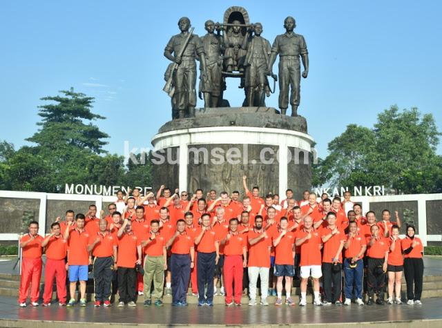 Olahraga Bersama TNI dengan Milat Corps di Mabes TNI