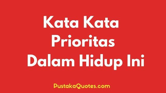 Kata Kata Prioritas