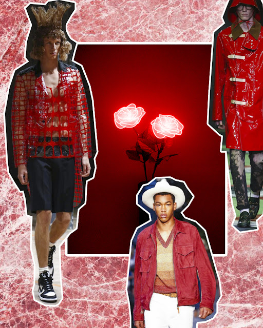 red color trend summer menswear