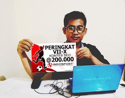 Juara 7 ajang Kontes SEO indosport.com
