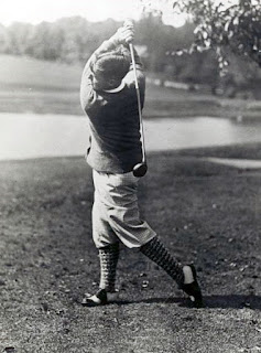 Bobby Jones plays his drive