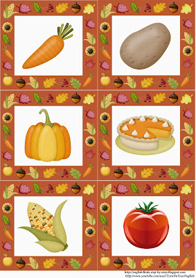 autumn fall vegetables flashcards