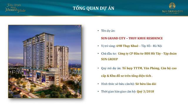 Chung cư Sun Grand City Thụy Khuê