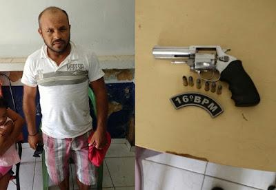 PM prende homem portando arma de fogo em Santa Quitéria (MA)
