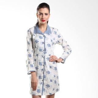 Dress Batik Kantor Kerja Elegan