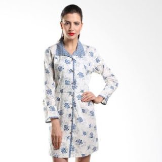 Model Baju Batik Kerja Kombinasi