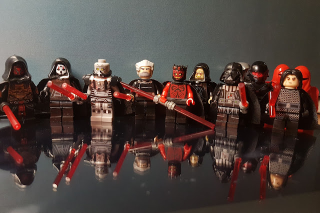 Lego Sith lords Star Wars collection fan art