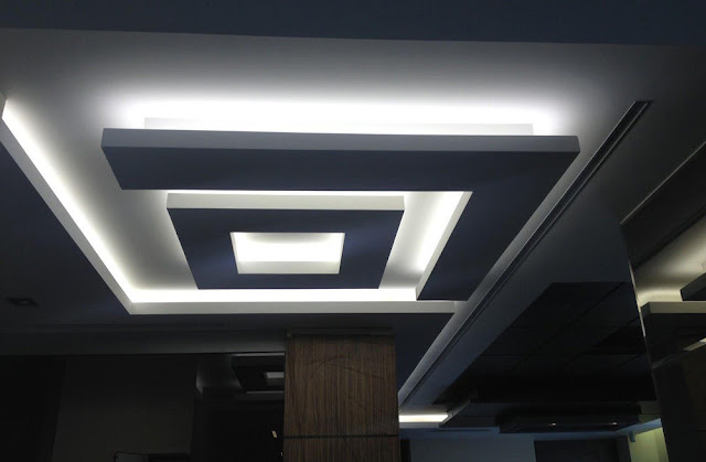 stunning ceiling LED strip lights design