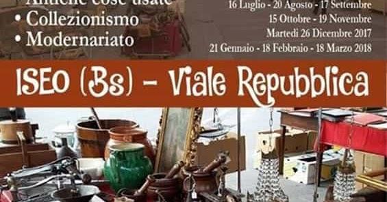 Iseo e franciacorta news iseo mercatino dell for Mercatini antiquariato 4 domenica