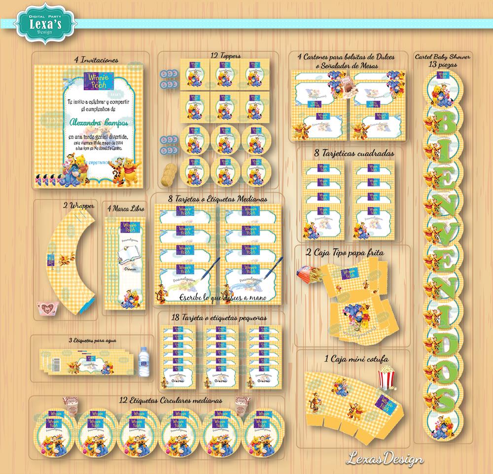 Kit imprimibles para fiestas Winnie Pooh gratis