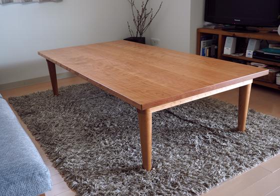 ブラックチェリーのロウテーブルとテレビ台