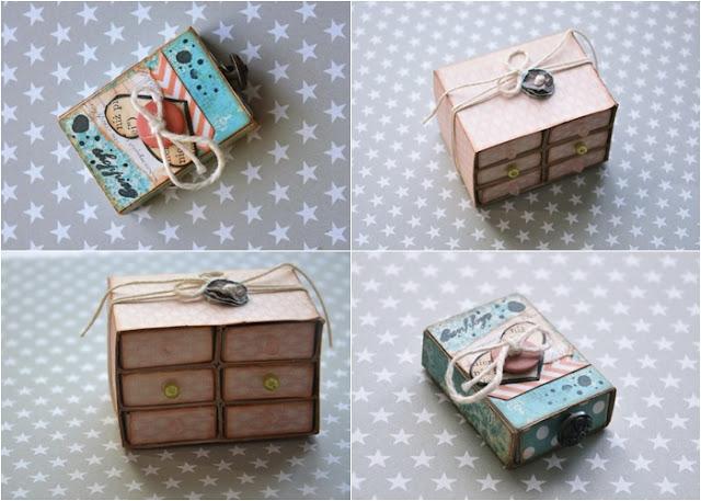 z pudełek po zapałkach, mini pudełeczka
