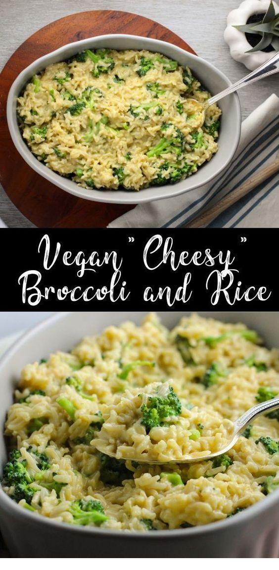Vegan Cheesy Broccoli And Rice