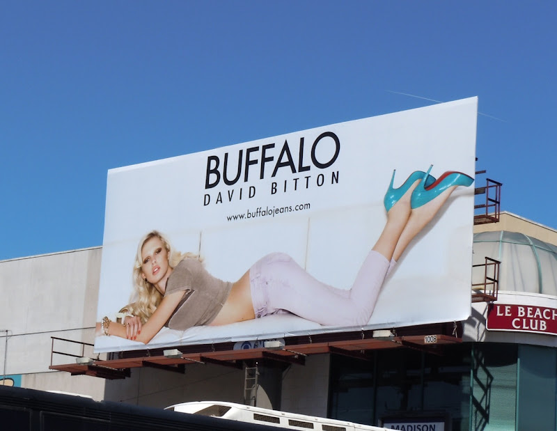 Buffalo Jeans blue heels billboard